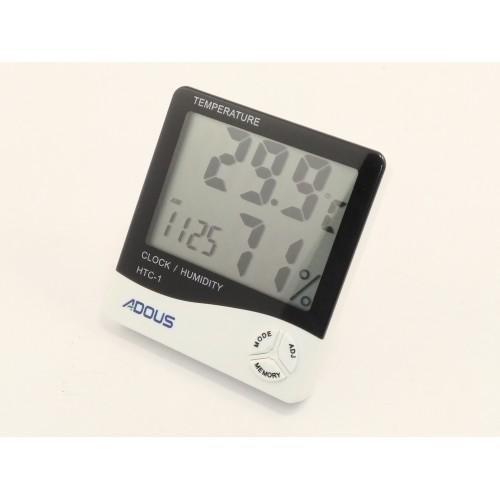 ADOUS Temperature & Humidity Clock