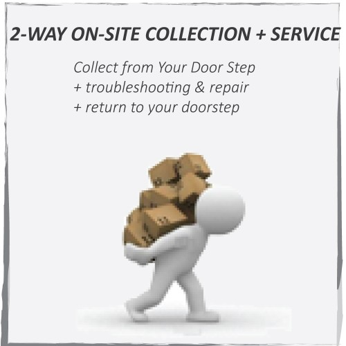 2-WAY ON-SITE COLLECTION + SERVICE FEE